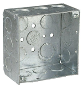 "Junction Box, 4""W x 4""H x 2-1/8""D"